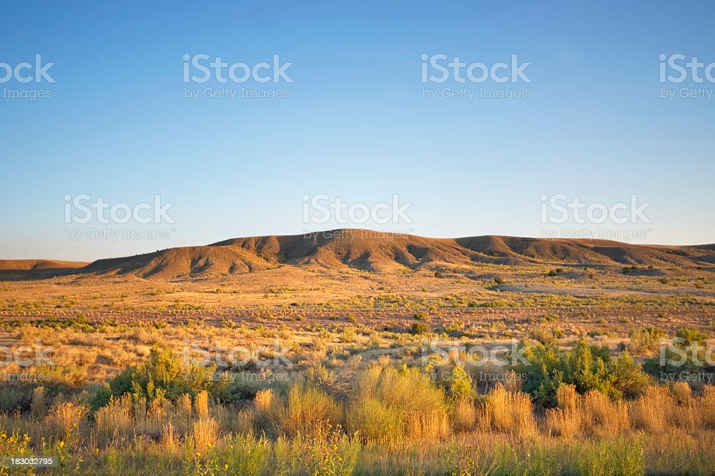 sunrise desert landscape stock photo