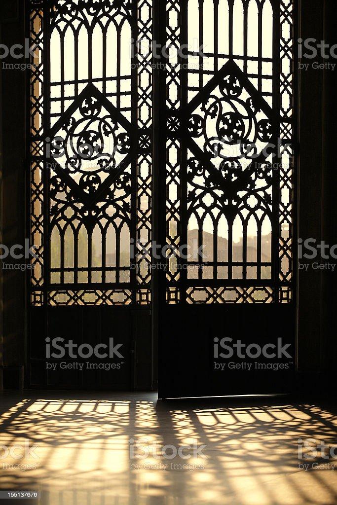 Sunrise Doors in Milan stock photo