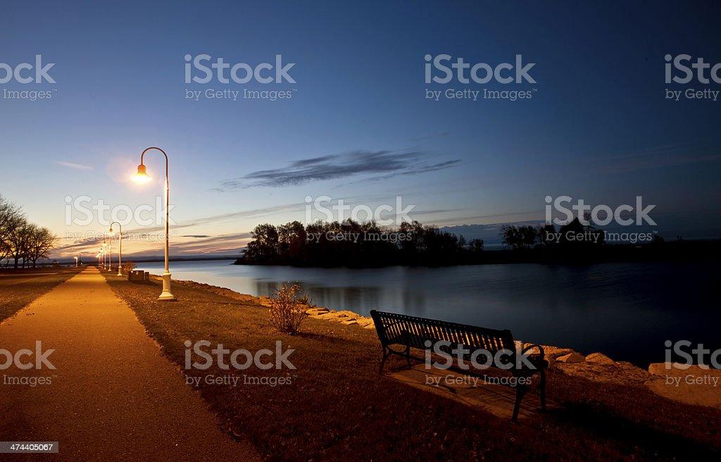 Sunrise Escanaba Michigan royalty-free stock photo