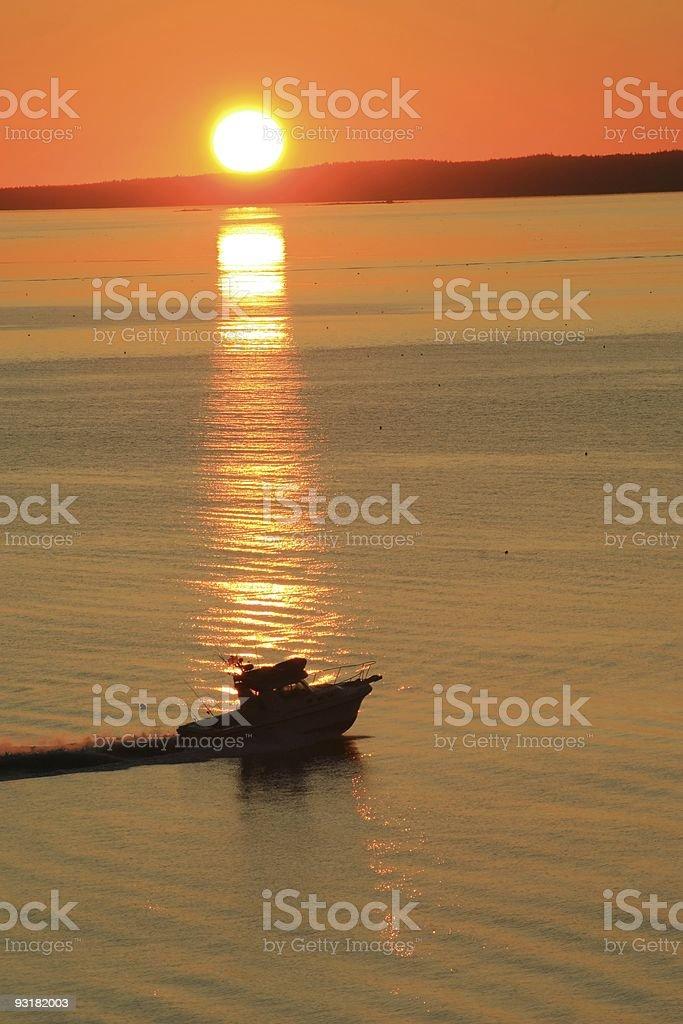 Sunrise Fishing Trip stock photo