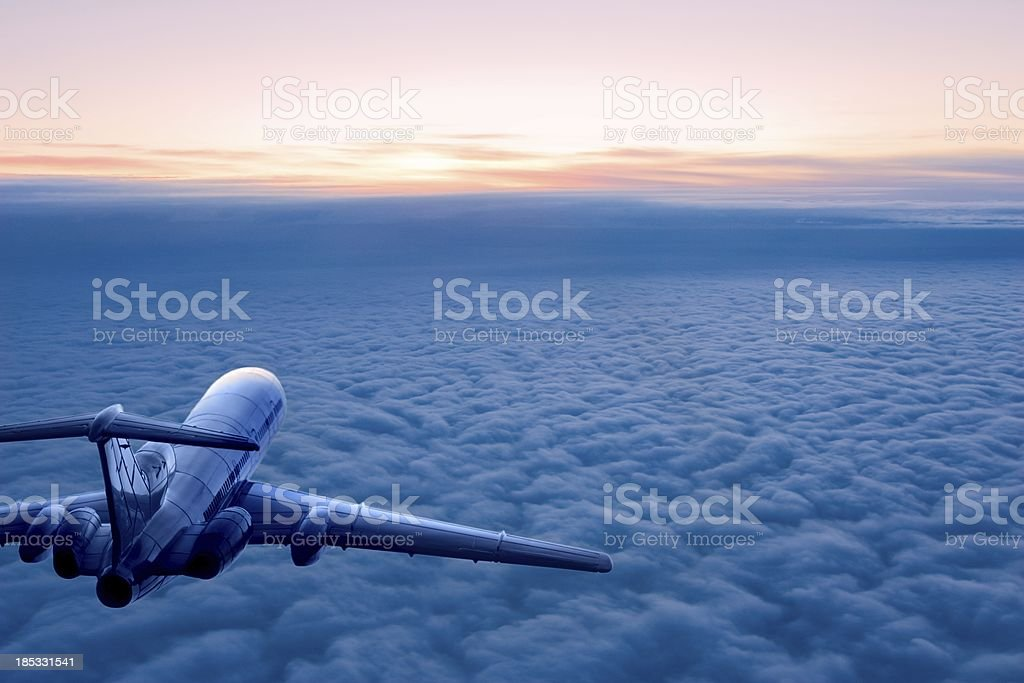 Sunrise flight stock photo