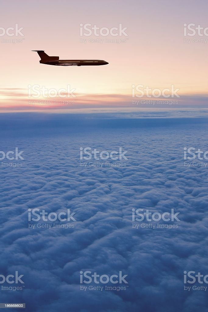 Sunrise flight royalty-free stock photo