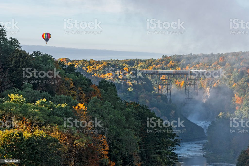 Sunrise From Inspiration Point At Letchworth State Park stock photo
