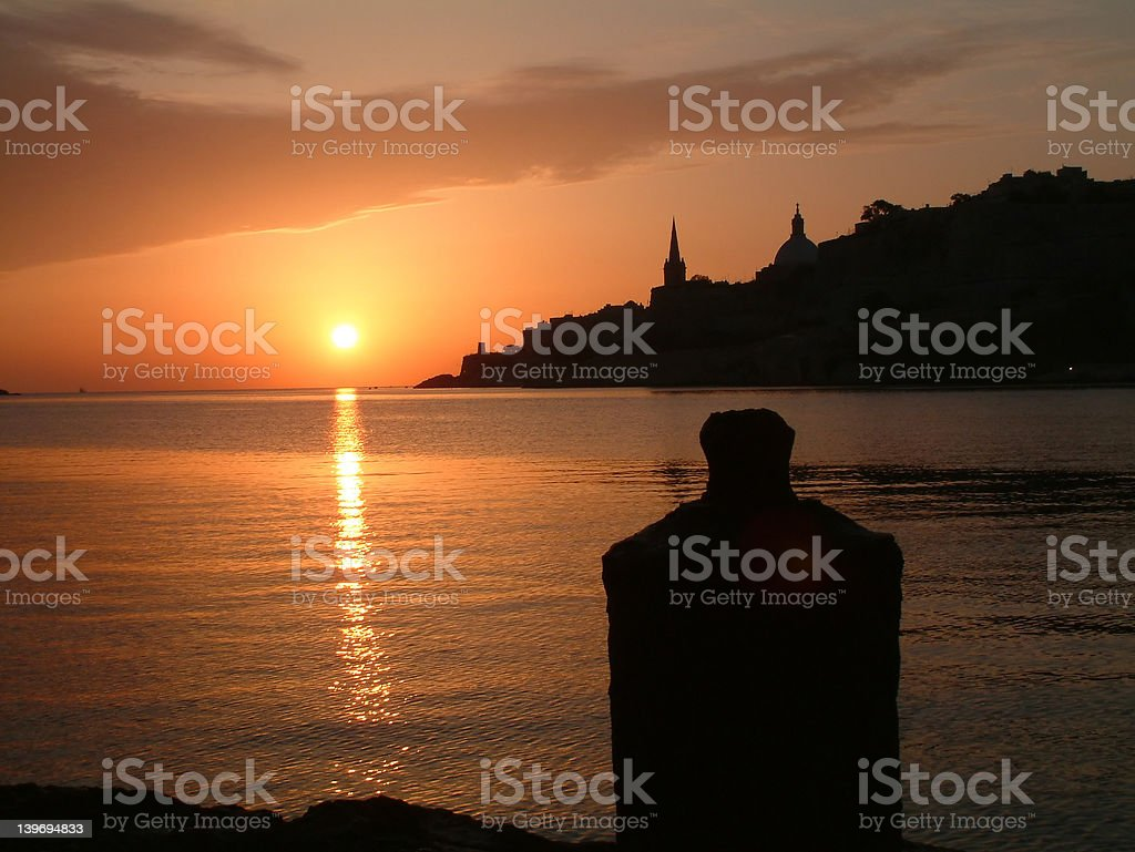 Sunrise from the bastions royalty-free stock photo