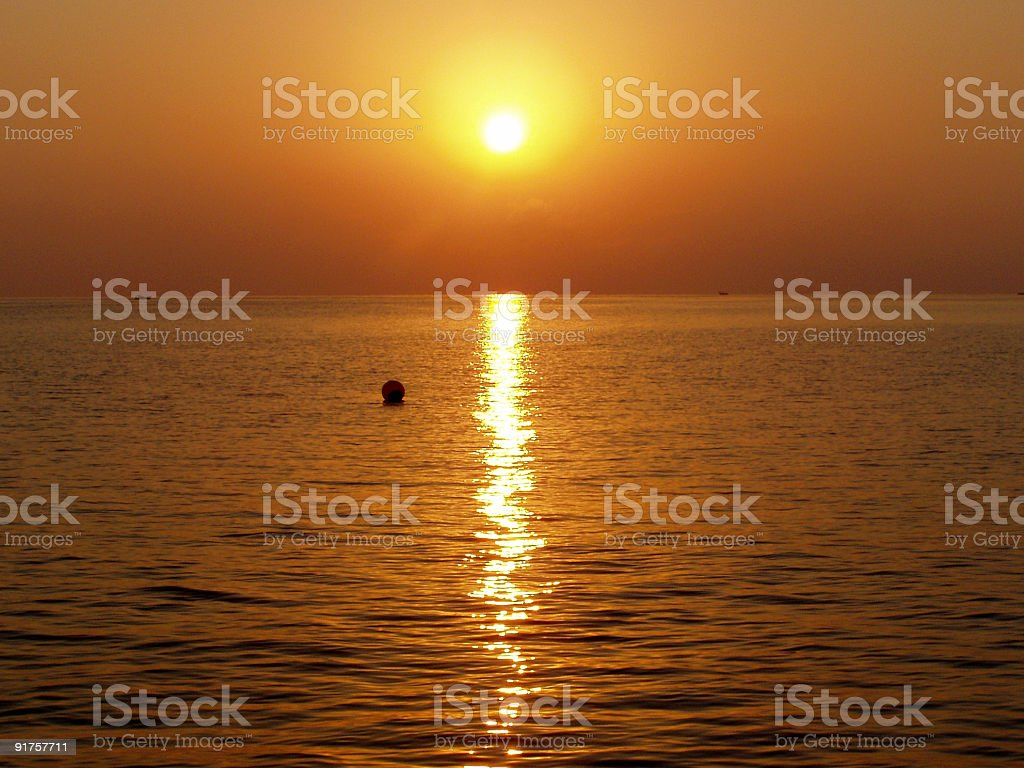 Sunrise from the sea royalty-free stock photo