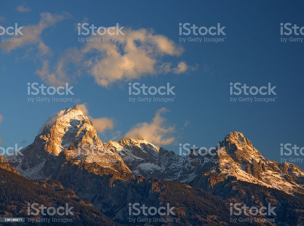 Sunrise from Windy Point royalty-free stock photo