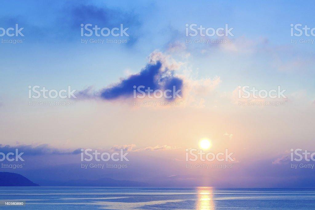 Sunrise Greece royalty-free stock photo
