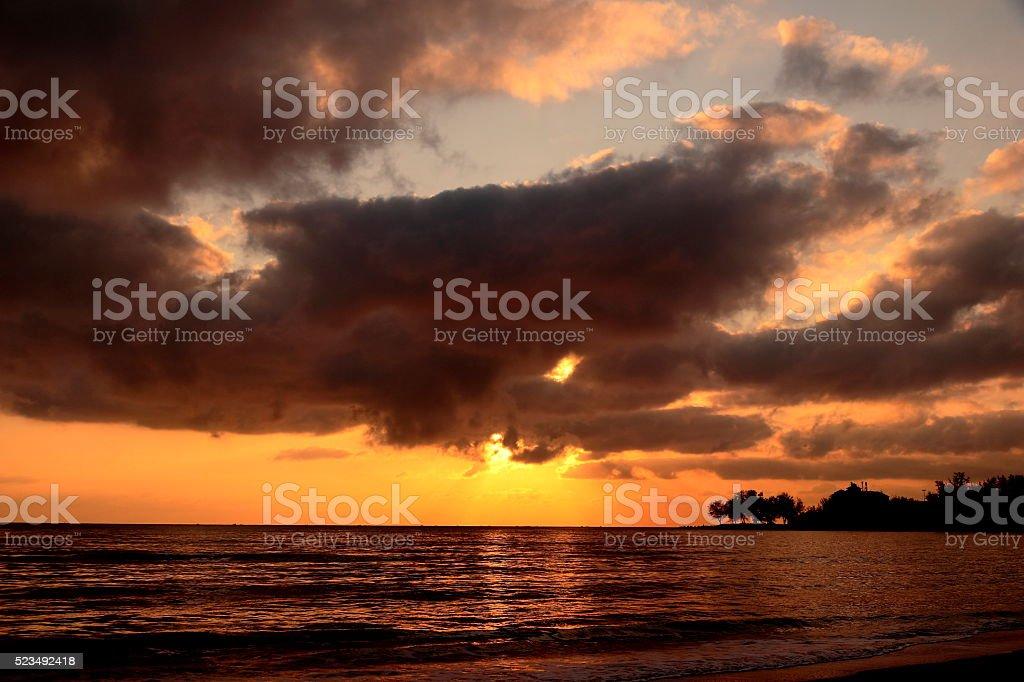 Sunrise Gulf of Thailand stock photo