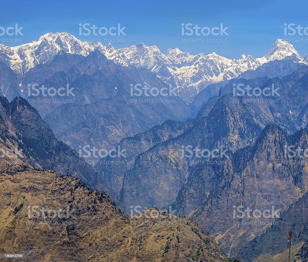 Sunrise, Himalayas stock photo