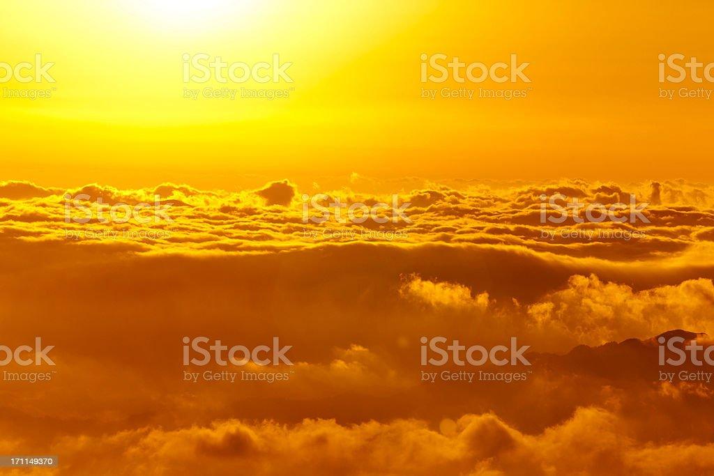 "sunrise in ""cattle's back"" mountain peak royalty-free stock photo"