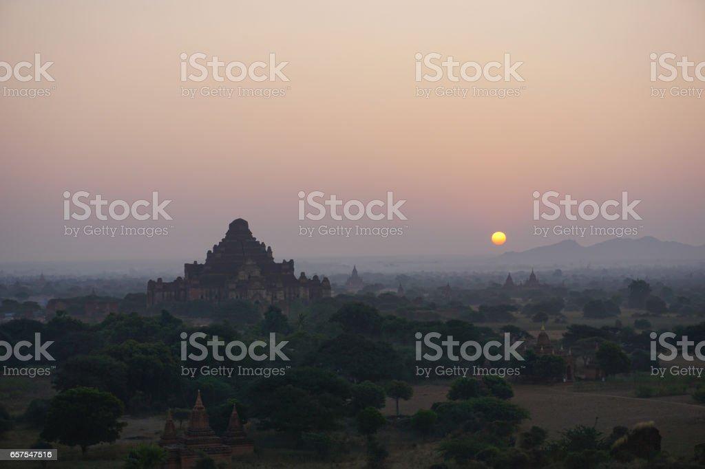 Sunrise in Bagan stock photo