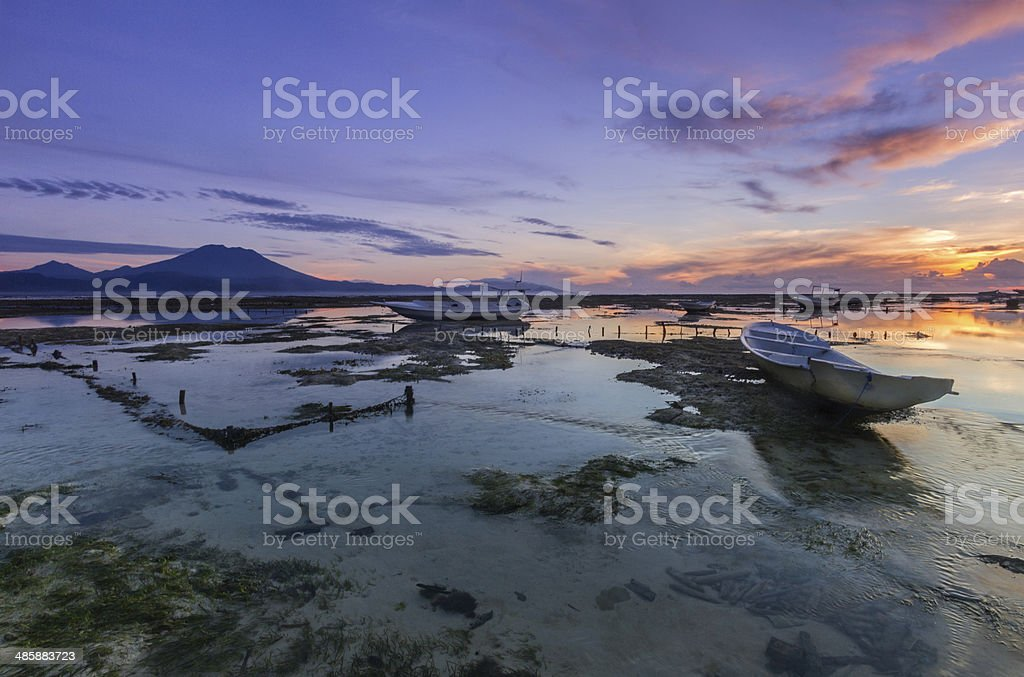 Sunrise in Bali stock photo