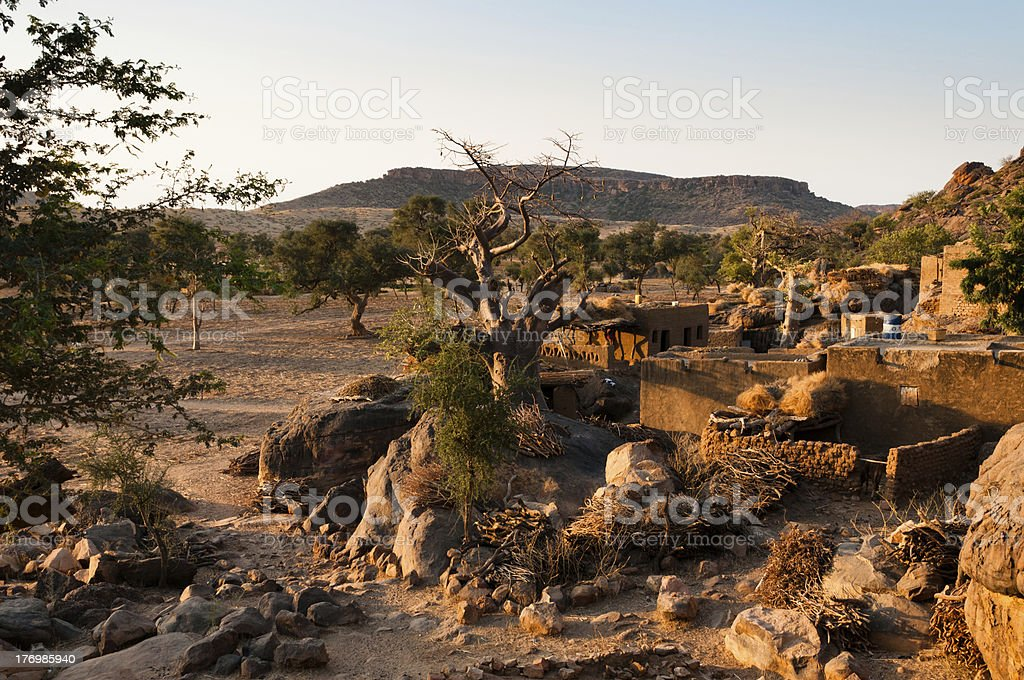 Sunrise in Bandiagara, Mali, West Africa stock photo