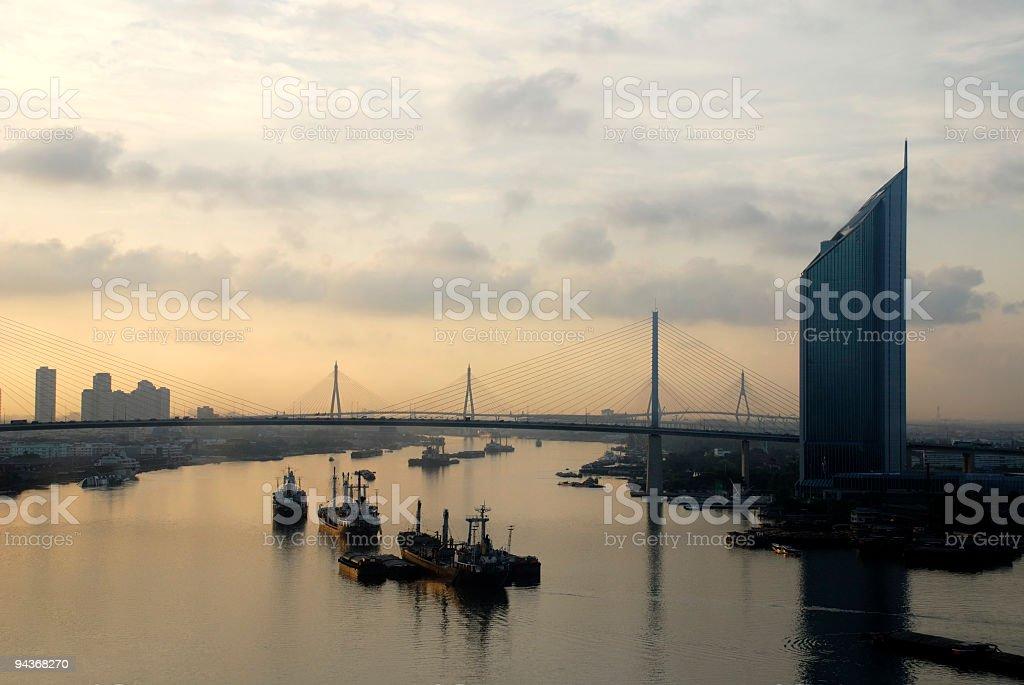 Sunrise in Bangkok, Thailand royalty-free stock photo