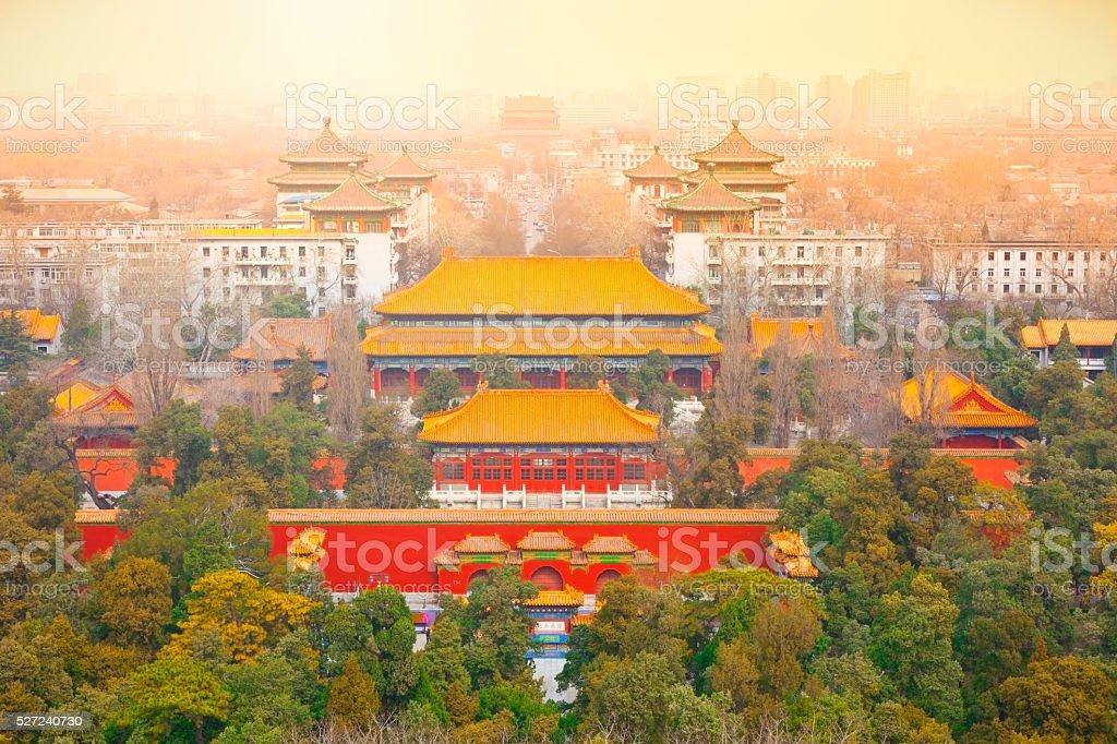 sunrise in Beijing stock photo