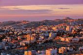 Sunrise in Bethlehem city