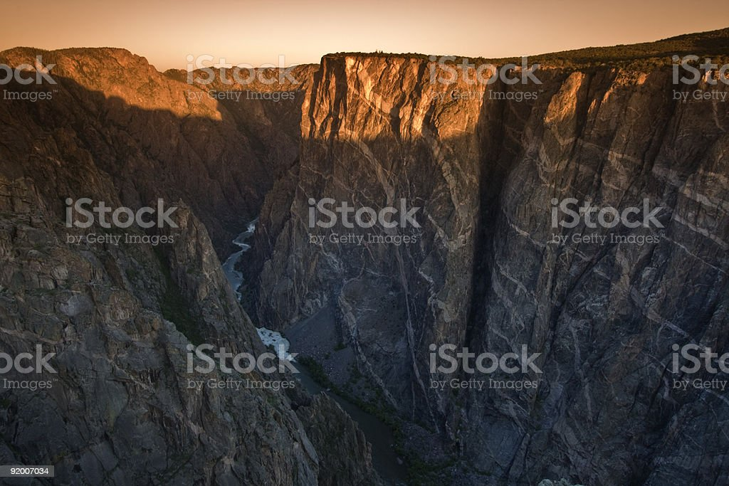 Sunrise in Black Canyon of the Gunnison stock photo