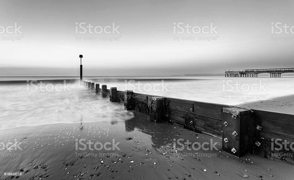 Sunrise in Bournemouth stock photo