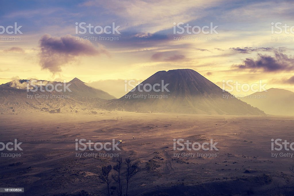 Sunrise in Bromo Tengger Semeru National Park, Indonesia stock photo