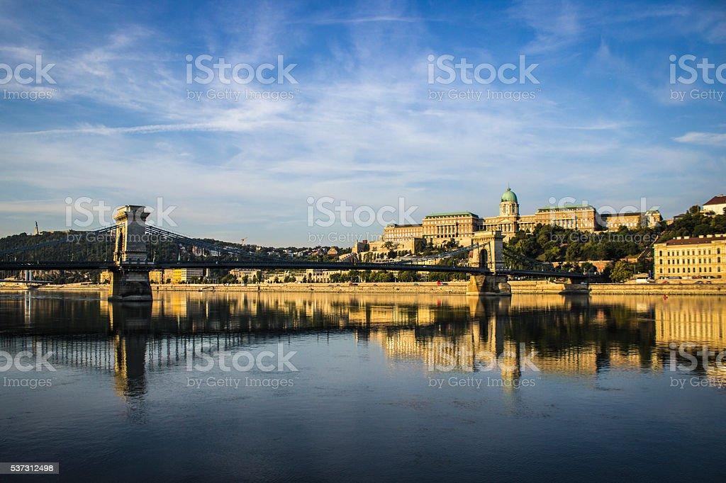 Sunrise in Budapest stock photo