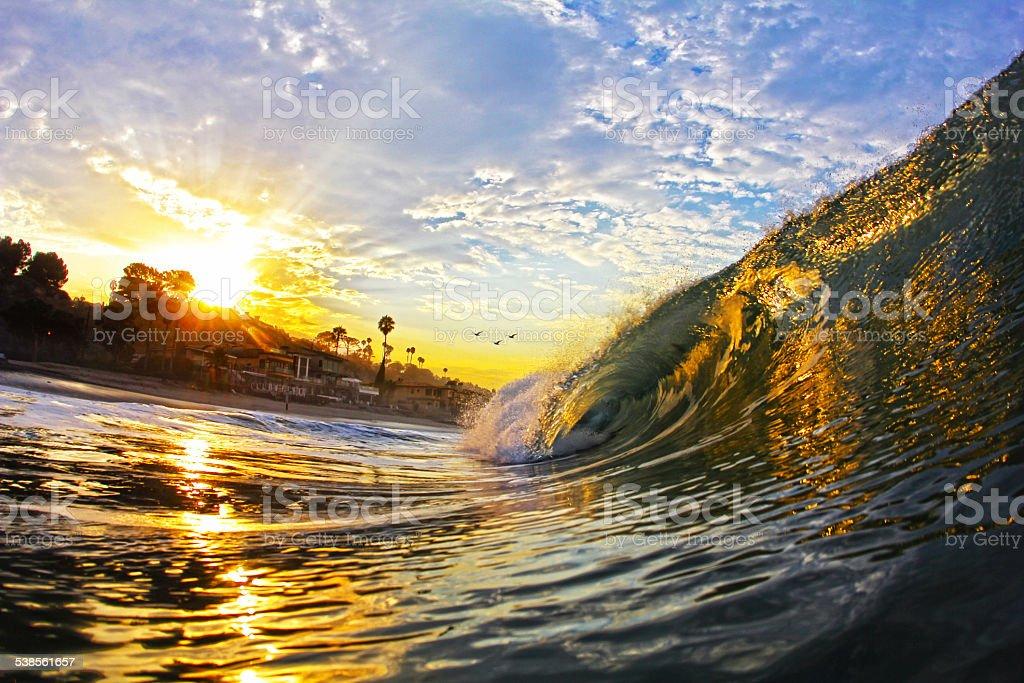 Sunrise in California stock photo