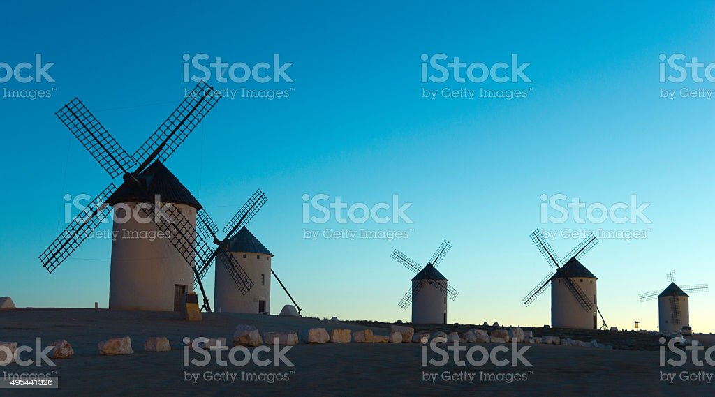 Sunrise in Castile, Spain stock photo