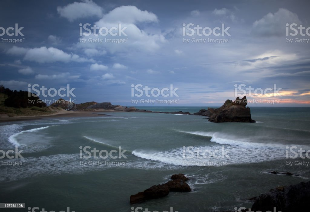 Sunrise in Castlepoint, New Zealand royalty-free stock photo