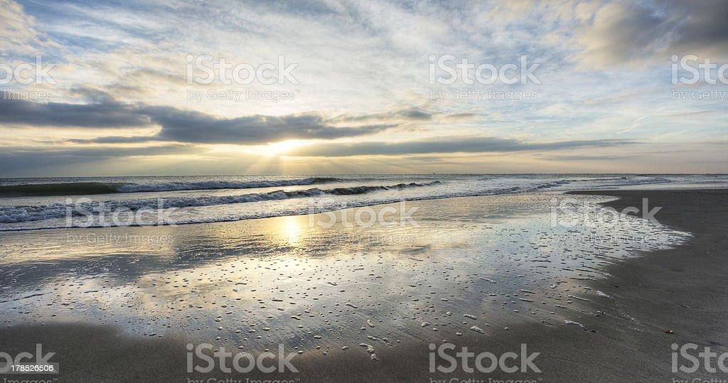 Sunrise in Cocoa Beach royalty-free stock photo