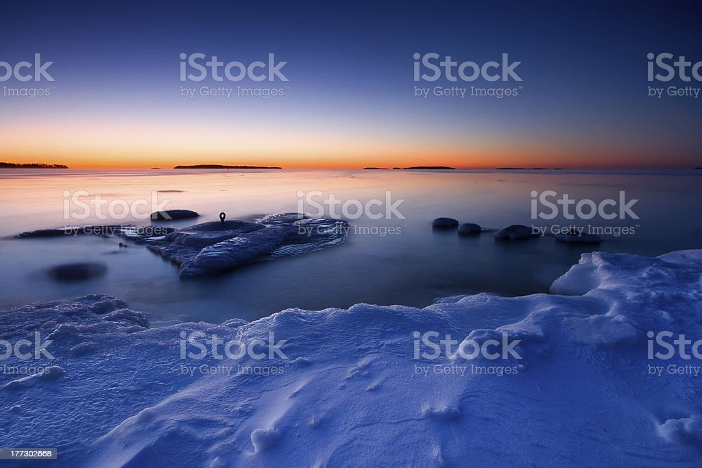 Sunrise in cold morning royalty-free stock photo