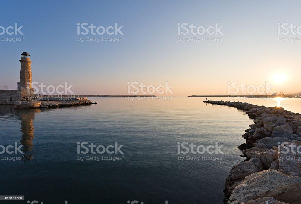 Sunrise in Crete island, Greece royalty-free stock photo