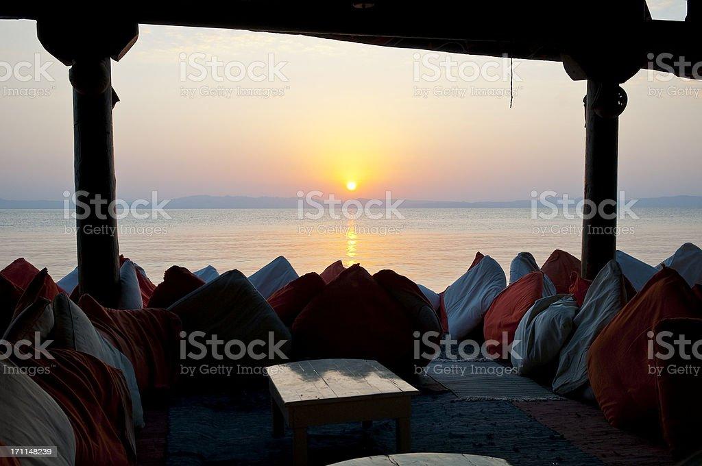 Sunrise in Dahab, Sinai stock photo