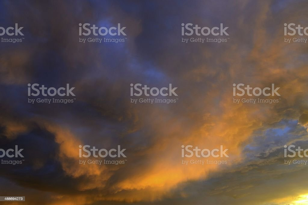 Sunrise in Fort Collins, Colorado royalty-free stock photo