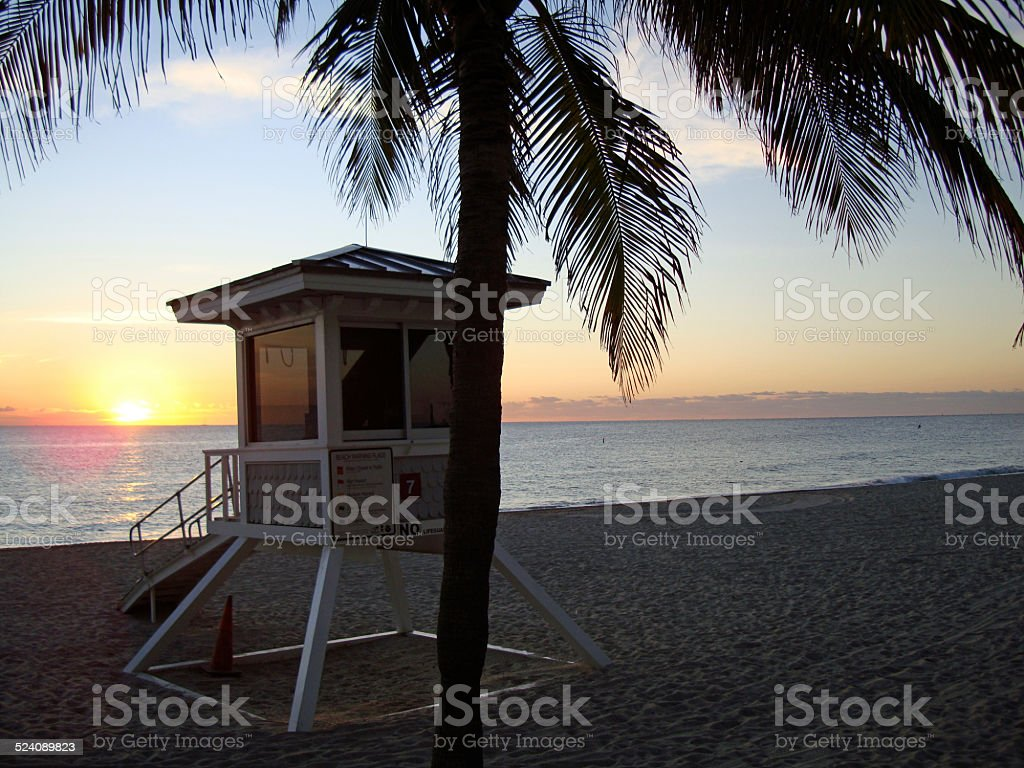 Sunrise in Fort Lauderdale, Florida stock photo
