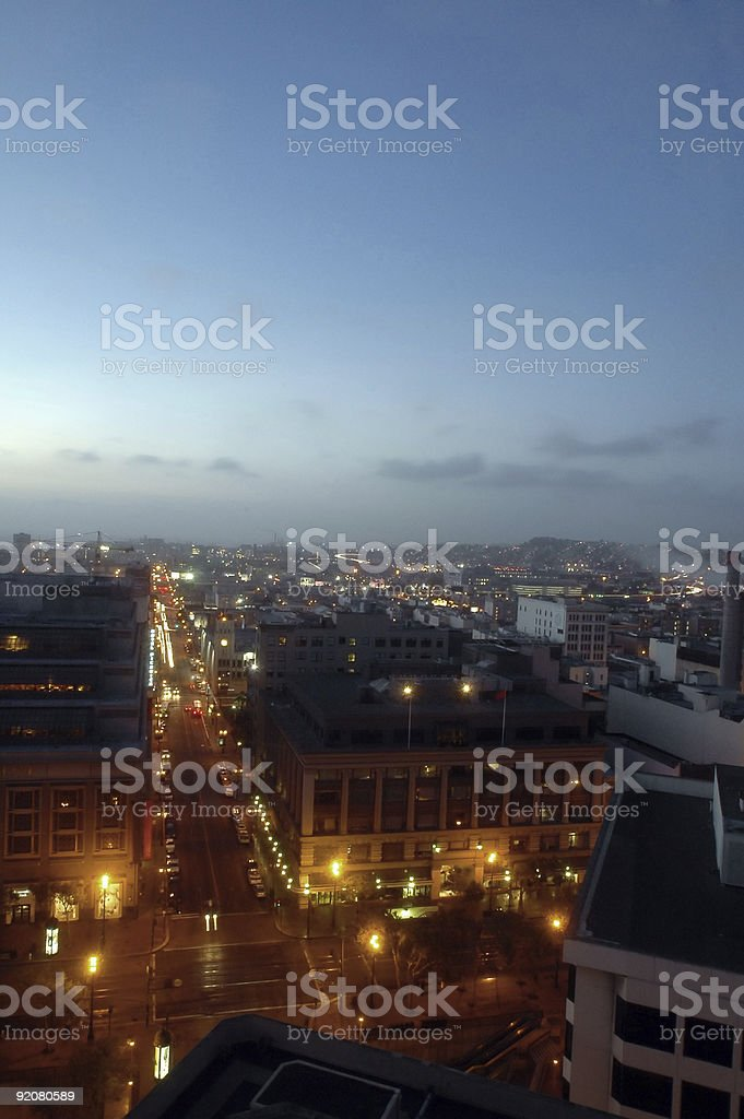 Sunrise in Frisco stock photo
