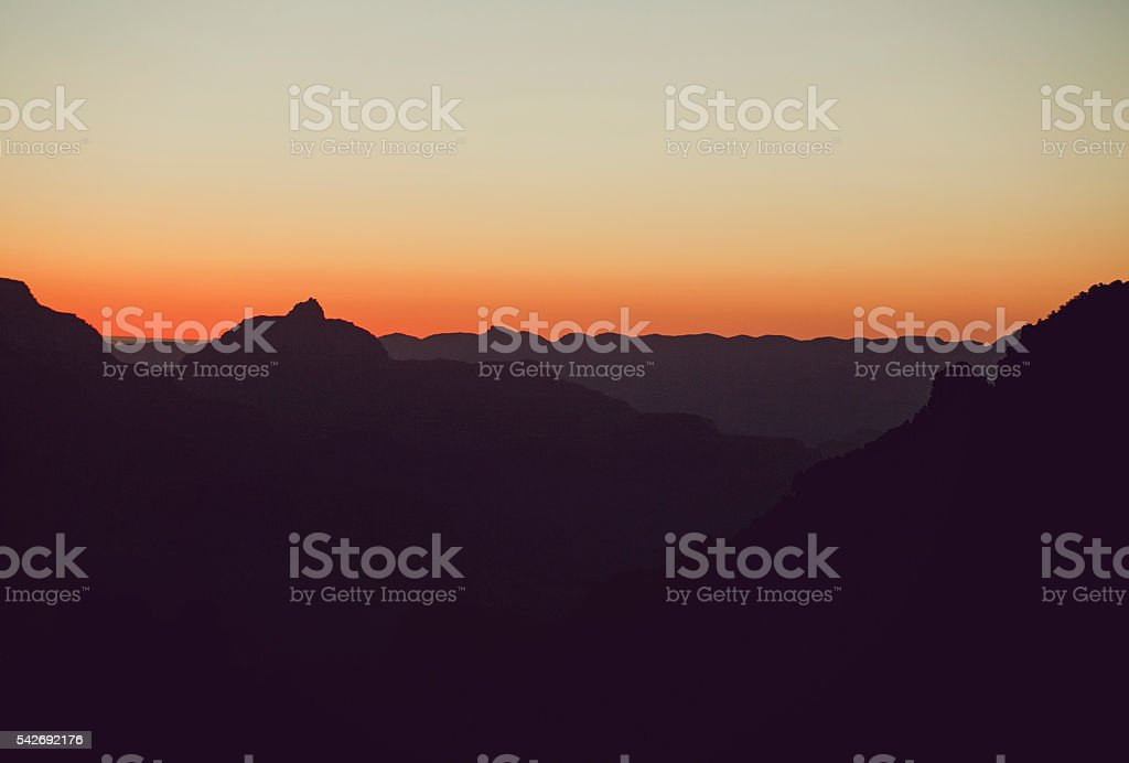 Sunrise in Grand Canyon stock photo
