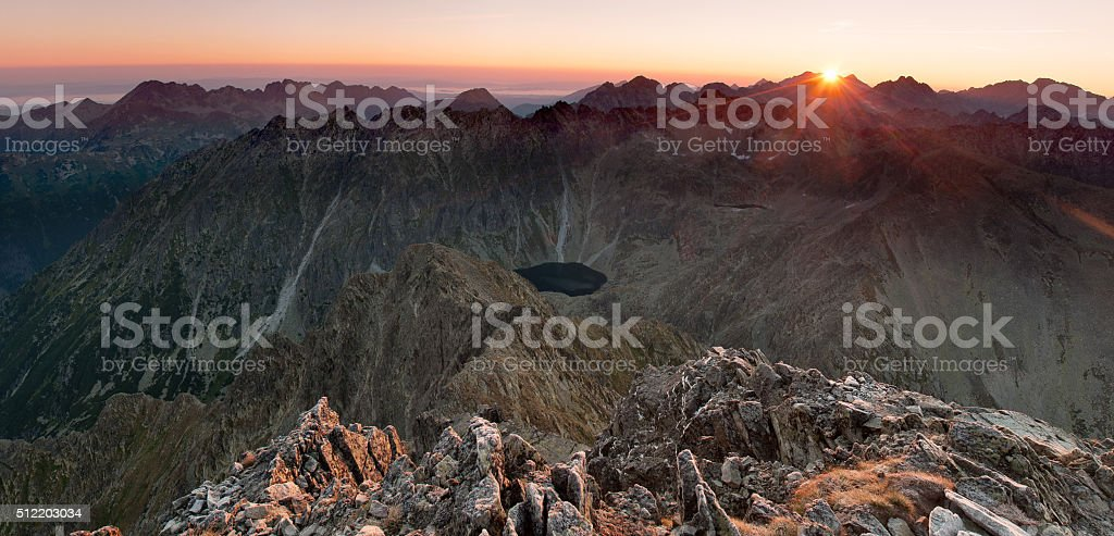Sunrise in High Tatras royalty-free stock photo