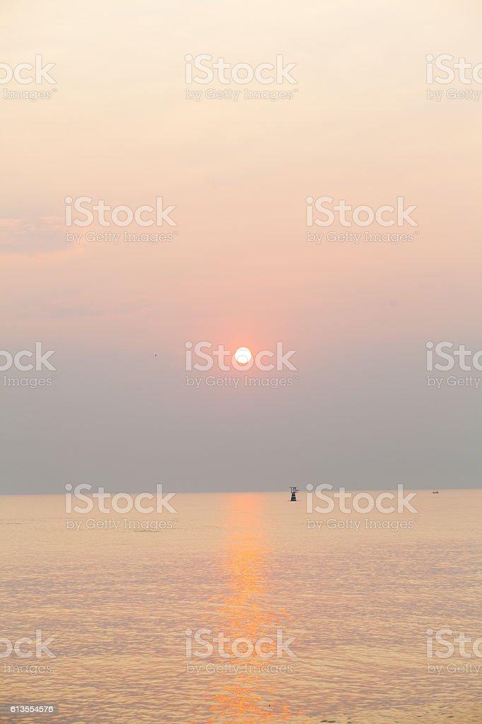 Sunrise in Hua Hin stock photo