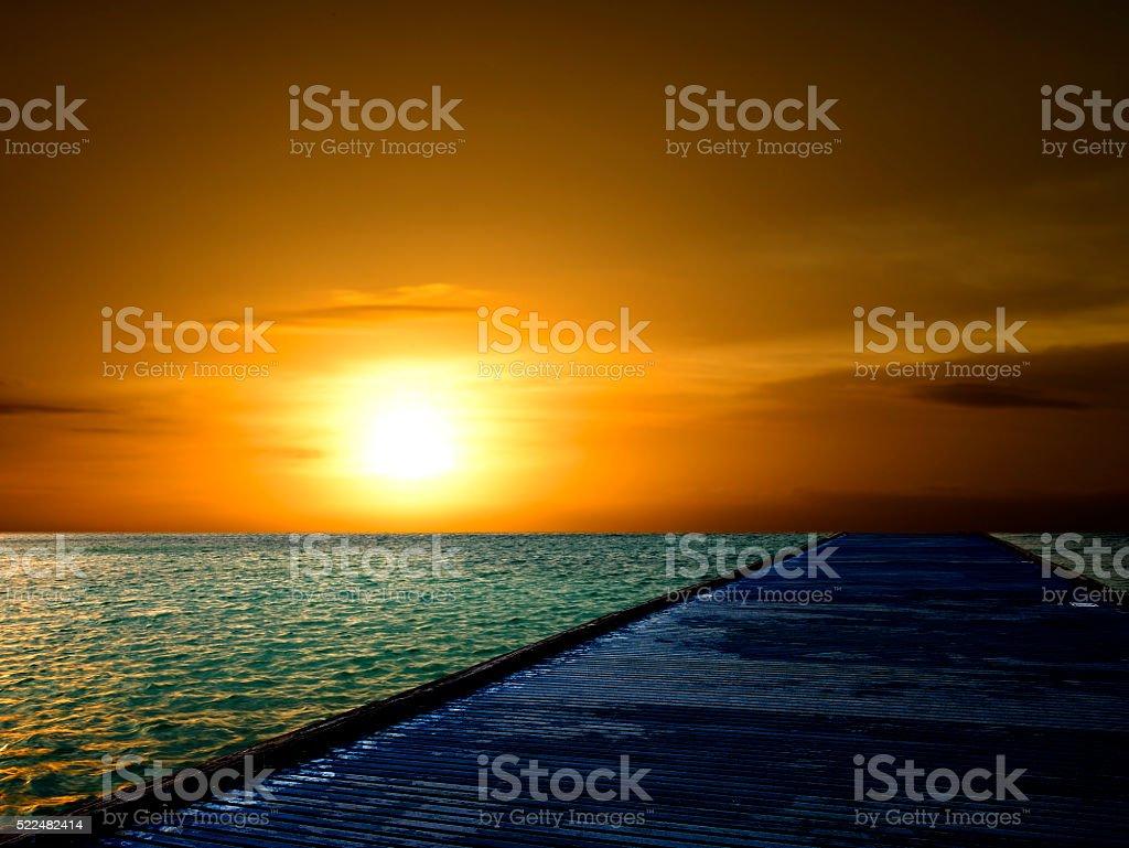 Sunrise in Key West stock photo