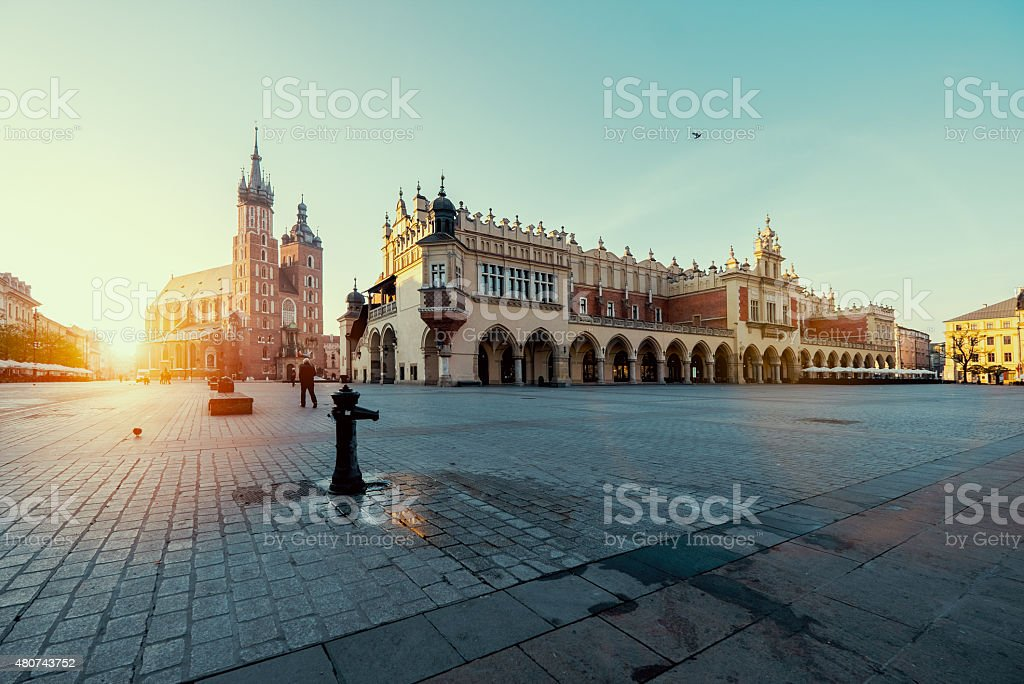 Sunrise in Krakow. Poland stock photo