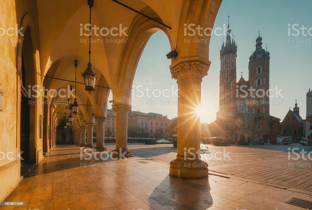Sunrise in Krakow. Poland stock photo