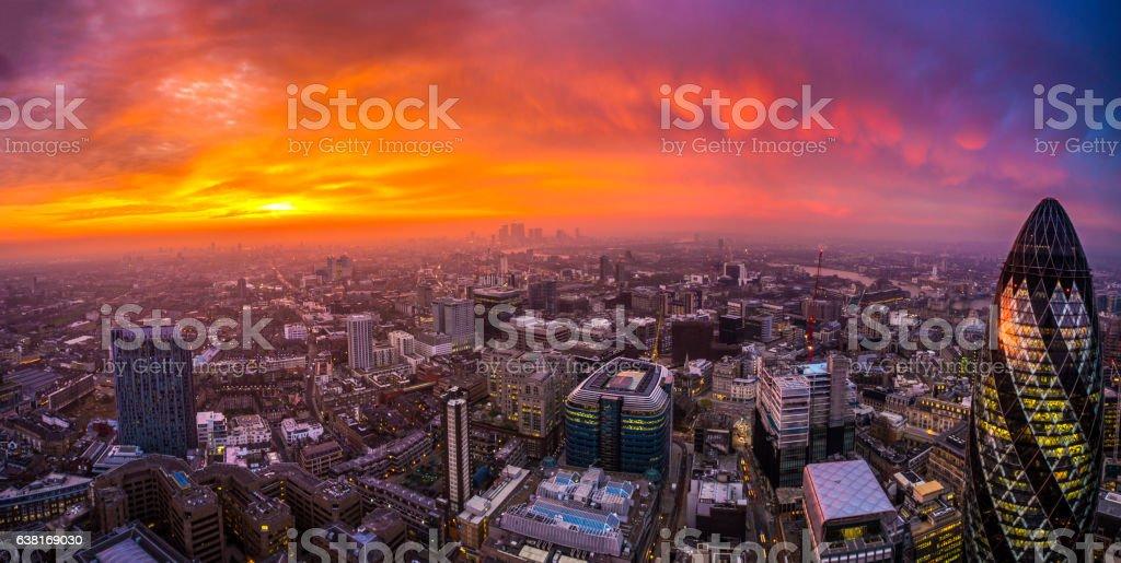 sunrise in London stock photo