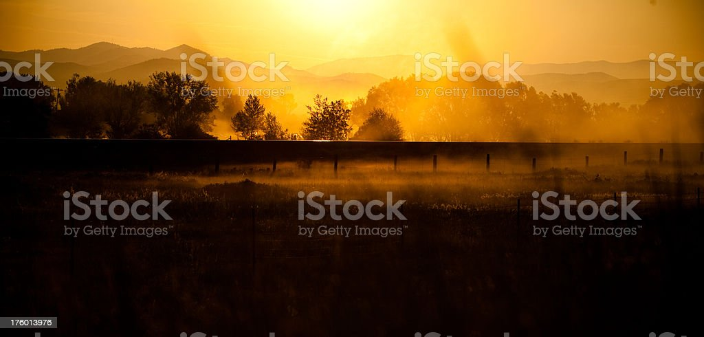Sunrise in Montana royalty-free stock photo