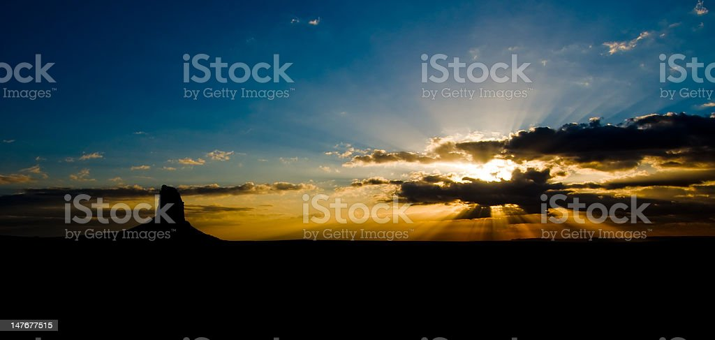 Sunrise in Monument Valley, Utah, USA royalty-free stock photo
