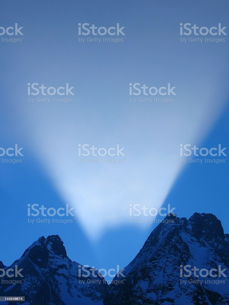 sunrise in mountain royalty-free stock photo