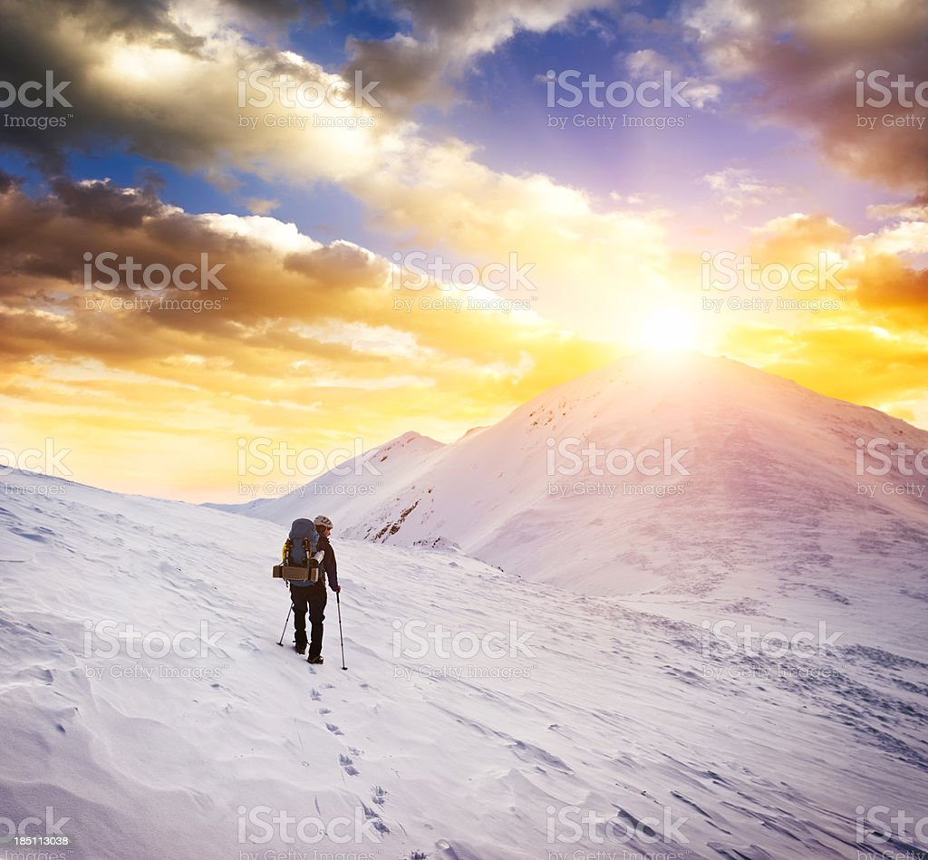 sunrise in mountains royalty-free stock photo