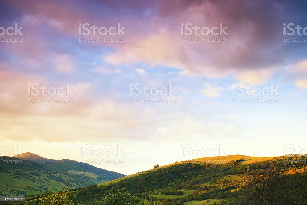 Sunrise in mountans royalty-free stock photo