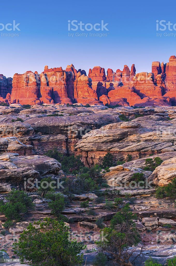 Sunrise in Needles District royalty-free stock photo