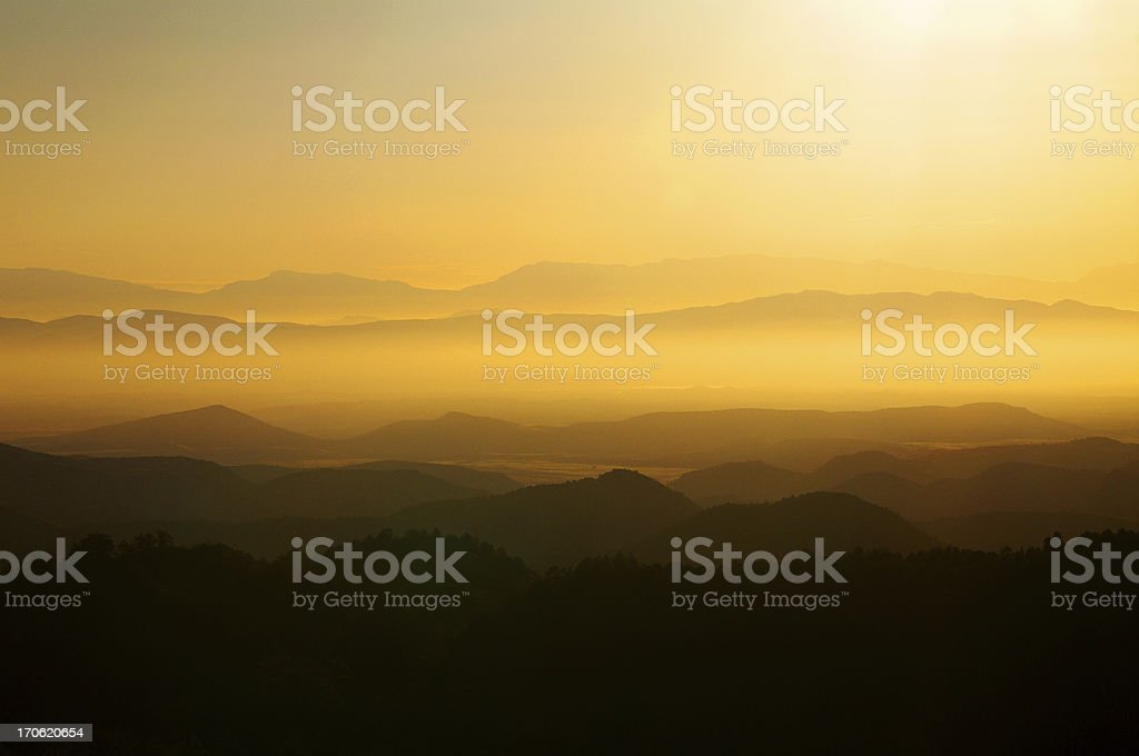 Sunrise in New Mexico royalty-free stock photo