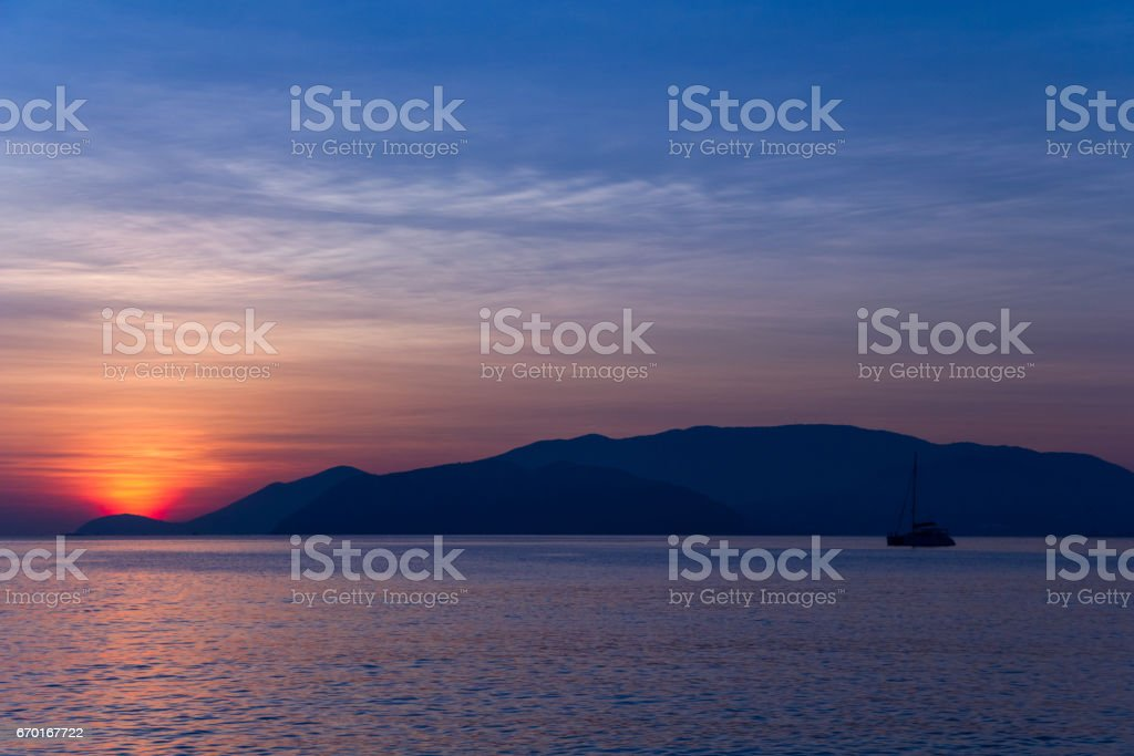 Sunrise in Nha Trang. stock photo