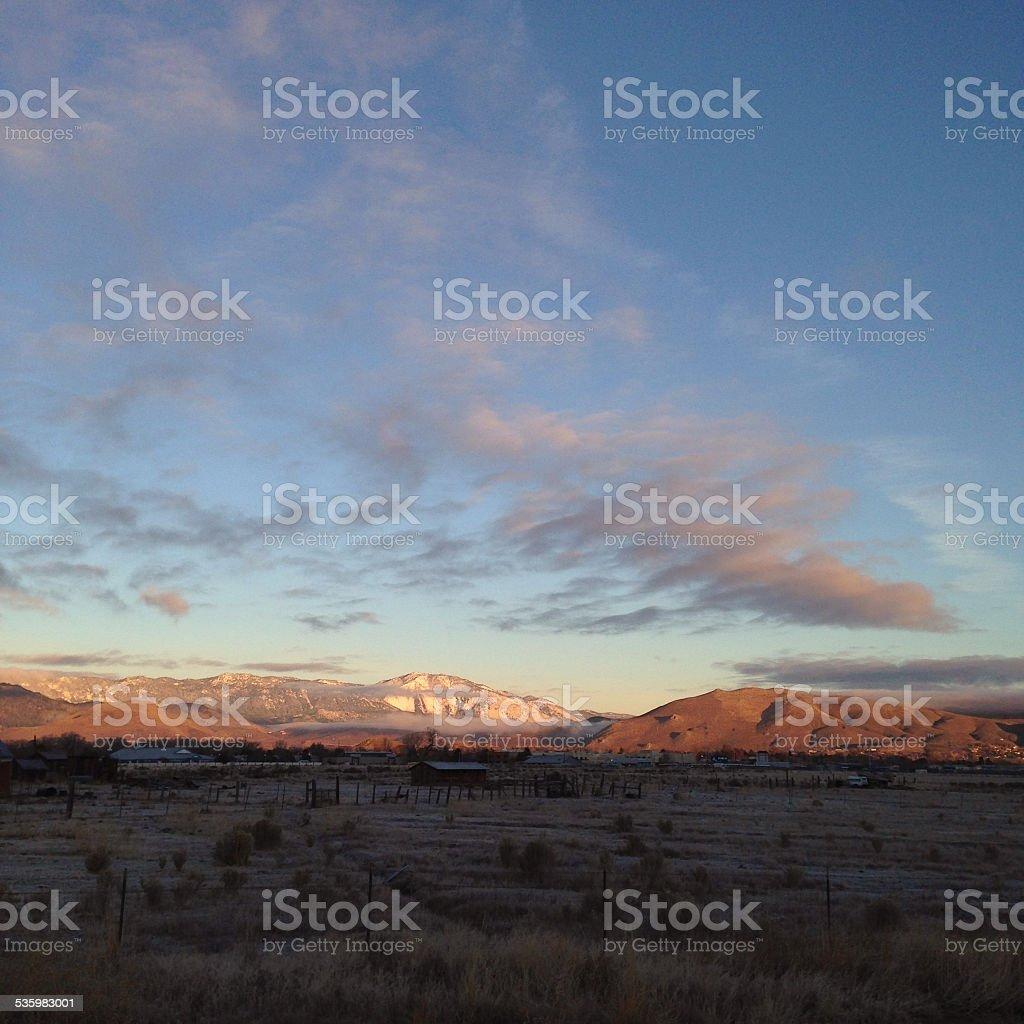 Sunrise in Northern Nevada royalty-free stock photo